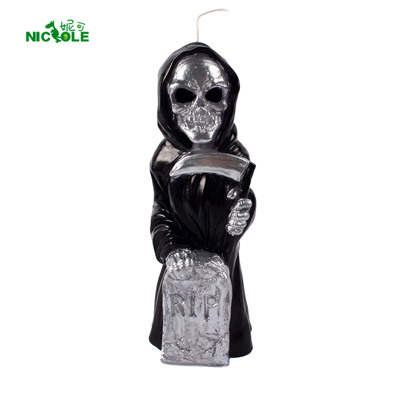 Nicole Silicone Soap Candle Mold Skull Skeleton Tombstone Graveyard Halloween Terror Ghost Mould