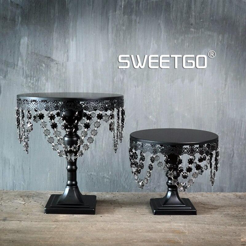 SWEETGO Soporte de la torta de cristal negro Fondant herramientas de - Cocina, comedor y bar