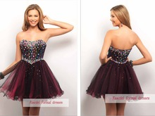 free shipping 2013 New design hot seller elie saab haute couture ball gown Mini Formal Pageant dress short Homecoming Dresses