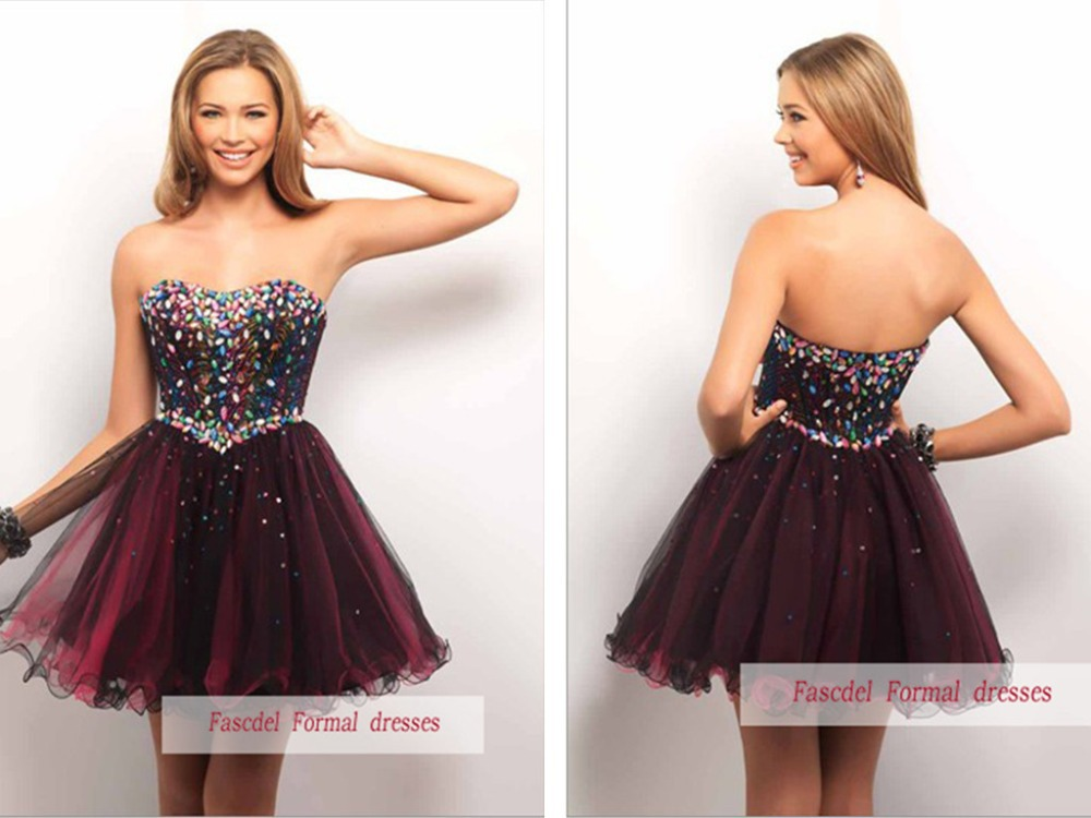free shipping 2015 New design hot seller short Mini sweetheart crystal Formal Pageant dress short Homecoming party prom dresses