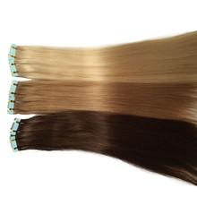 Дважды нарисованные европейские Remy человеческие волосы для наращивания кожи Уток Цвет#1#2#4#6#8#27#30#613 PU лента, волосы, уток для женщин