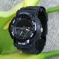 Водонепроницаемый Мужчины Женщины Спорт Анти-сейсмических Наручные Часы Солнечной Энергии Dual Time Цифровые Часы Подарок Для Мальчиков Девочек Студент OP001