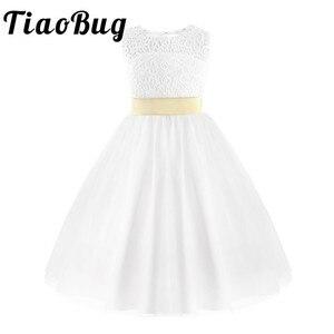 Image 1 - فستان فتيات من TiaoBug للمراهقات برنسيس الزهور ، فستان حفلات زفاف للأطفال ، حفلة عيد ميلاد ، أول مناولة ، فستان رسمي للحفلات الراقصة