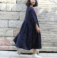 In fall 2015 new products, original design brand quality 100% cotton linen women's trench coat of loose big yards