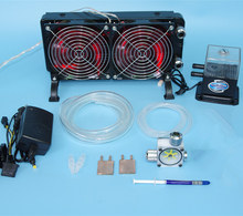 For Laptop CPU GPU water liquid cooling cooler Copper Dissipate heat Radiator water Pumps+water tanks+Heat sink kit