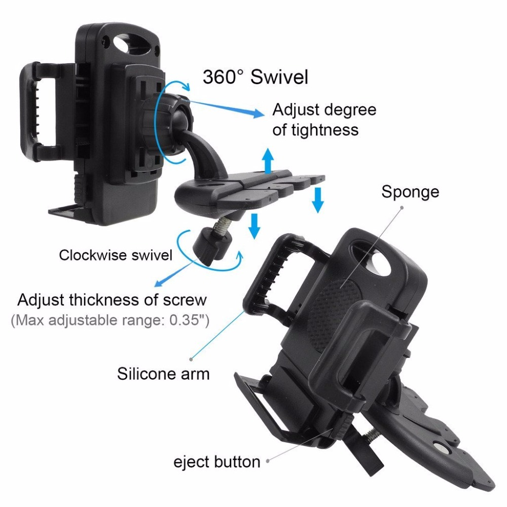 Car Mount Holder CD Slot Mobil Telepon Mount Universal Dudukan Ponsel - Aksesori dan suku cadang ponsel - Foto 5