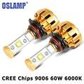 Oslamp 9006 HB4 LED Car Headlight CREE Chips 6000LM 60W Auto 9006 Headlamp LED Headlights For DRL Car LED 9006 Fog Light Bulbs