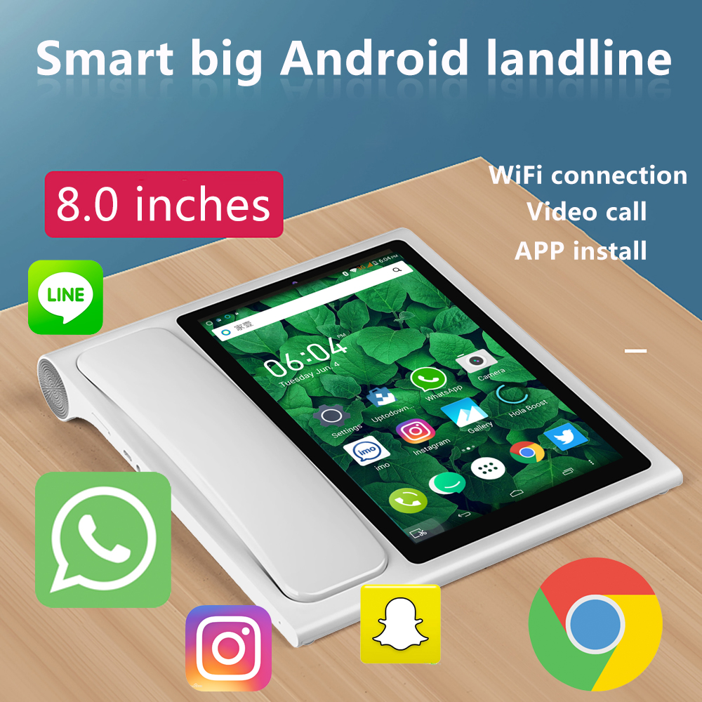Smart Wireless Landline With SIM Card Videophone Glob Universal Elderly WIFI Video Mobile Phone