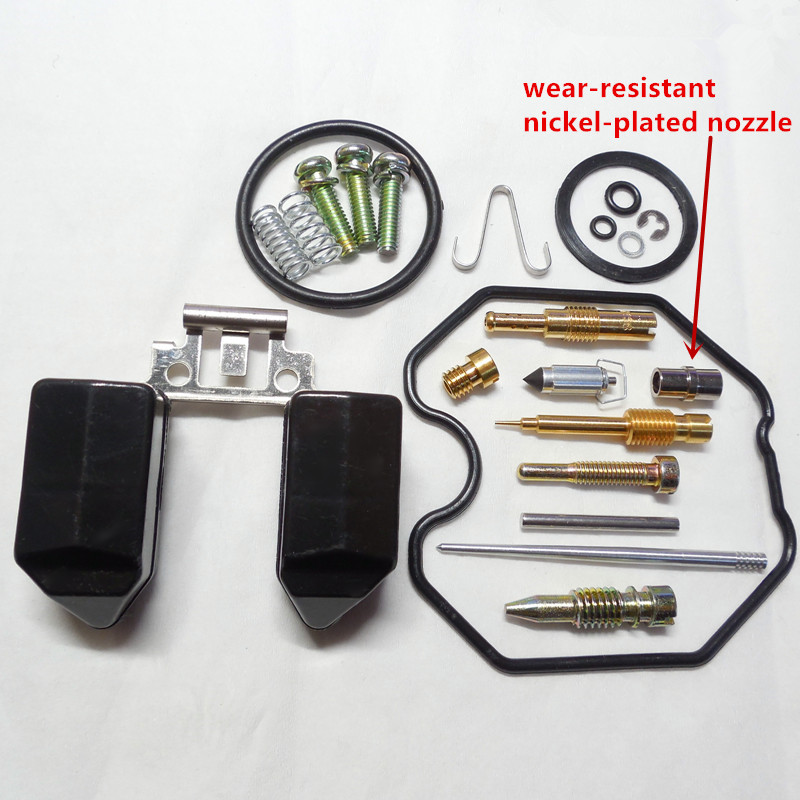 (Free shipping) Keihin carburetor PZ30 repair kits CG250CC ATV motorcycle repair bag (With wear-resistant nickel-plated nozzle)