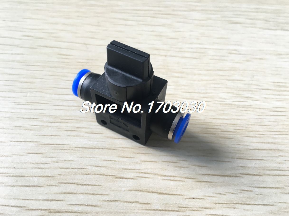 5pcs 6mm One Touch Fitting Pneumatic Connector Hand Valve HVFF6 6mm to 6mm one touch ends quick fitting connector 4 pcs