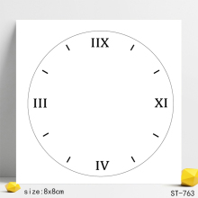 Clock Transparent Silicone Stamps/Seal for DIY Scrapbooking/Photo Album Decorative Card Making Clear Stamps Supplies