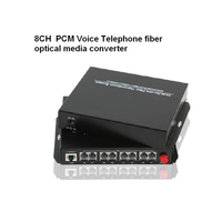 High Quality 8 Channel PCM Voice Telephone Fiber Optical Media Converter With Ethernet 1Pair FC Single