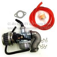 PZ19 19mm PZ22 22mm Motorcycle Carburetor With fuel hose air oil filter Inlet Valve For ATV Dirt Bike Go Kart Carb Hand choke