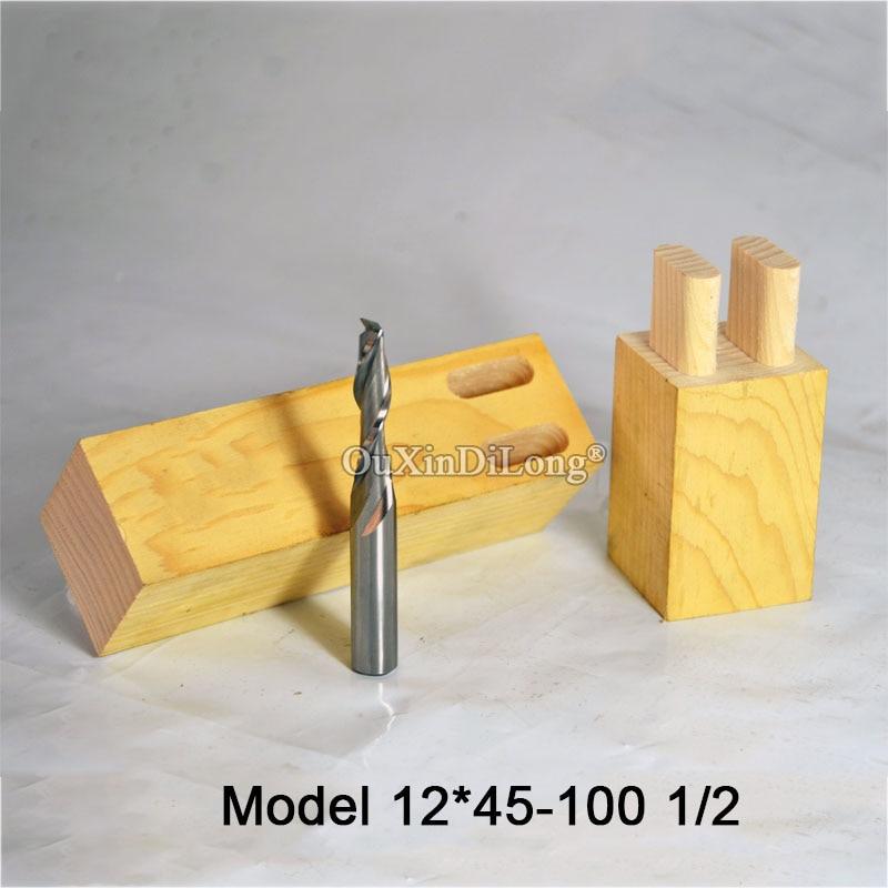 1PCS Woodworking Milling Cutter Dia 12mm, Upcut Spiral Router Bit, 1/2 Shank, Model 12*45-100 1/2 JF1655