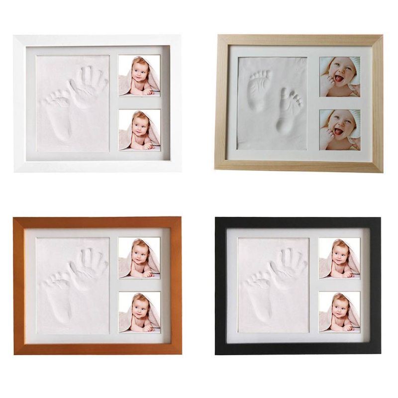 Baby Children Kids Hand Finger Foot Print Clay Mud Set Photo Picture Keepsake Frame Kit Gift