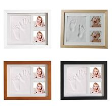 Baby Children Kids Hand Finger Foot Print Clay Mud Set Photo Picture Keepsake Frame Kit Gift цена