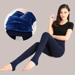 2018 Super Elastic Leggins Velvet legging Women Autumn Winter Warm fleece Female Plus Size Velvet black Stretchy pants 2