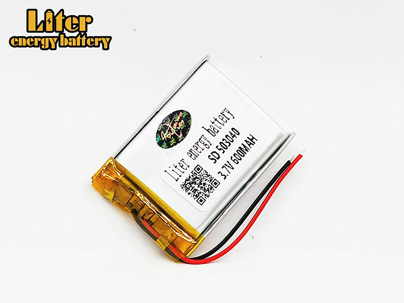 3.7V lithium polymer battery 503040 053040 Rechargeable Li-Po Batteries For MP3 MP4 MP5 GPS Bluetooth DIY audio / Toys 600MAH