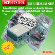Full activated Octopus Box + 38 in 1 Full Cable Set for LG and for Samsung Unlock Flash & Repair+free shipping