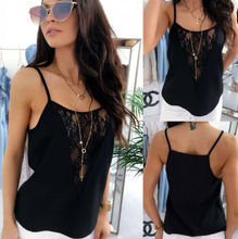 Women Summer Tank Tops Lace Sexy Straps Camis Fashion Camisole Sleeveless Casual