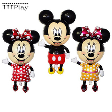 110 64cm Mickey Minnie Mouse Foil Balloons Classic Kids font b Toys b font Birthday Party