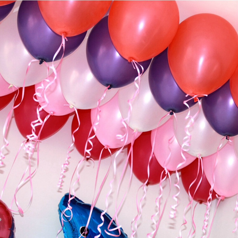 100pcs 15gpc Pink Pearl Latex Balloon 21 Colors Inflatable Wedding Decorations Air Ball Happy Birthday Party Supplies Balloons In Ballons Accessories