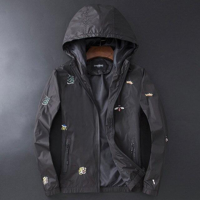 Nouveau hommes luxe côtes manches brodé serpent tigre abeille couronne couple Baseball manteaux et vestes abstrait numérique manteau moteur # L77