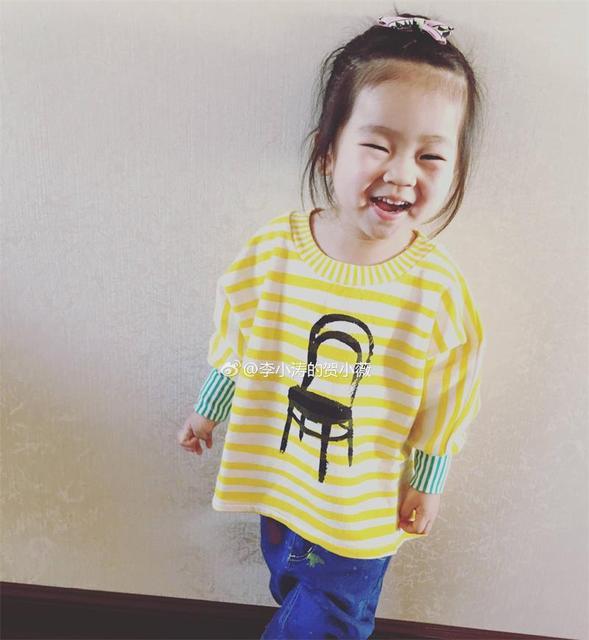 2016 bobo choses primavera de europa rayado amarillo de los niños del algodón del bebé de la manga completa T-shirt muchacha del muchacho tops ropa