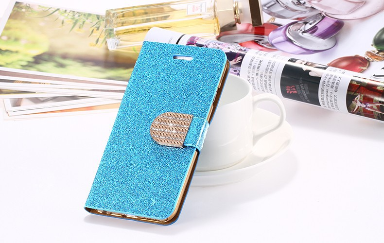 Dla iphone 6 6s plus 7 plus cover glitter bling kryształ diament skórzany portfel case do samsung galaxy s6 edge plus s7 edge torby 16