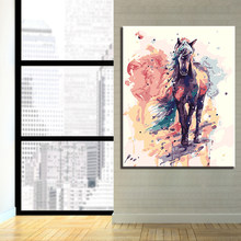 Digital Painting By Numbers DIY Frame Wall Art Decor Poster Color Horse Kits Drawing On Canvas Oil Paints Colors Unique Pictures(China)