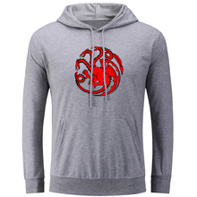 Game of Thrones House Targaryen Hoodies for Men Women Girl Boy Casual Sweatshirt Jackets Spring Autumn Vacation Tops Streetwear