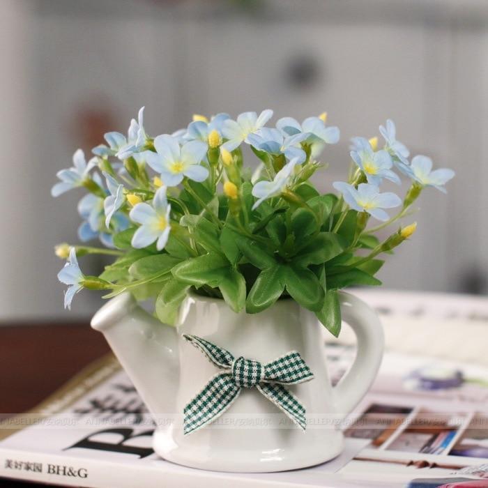 Artificial Flower Small Bonsai Spray Bottle Office Desk Green Plant Set Mini In Dried Flowers From