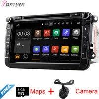 TOPNAVI 7'' Quad Core Android 5.1 Car DVD Multimedia Player for VW Universal Autoradio Audio Stereo GPS Navigation 2DIN