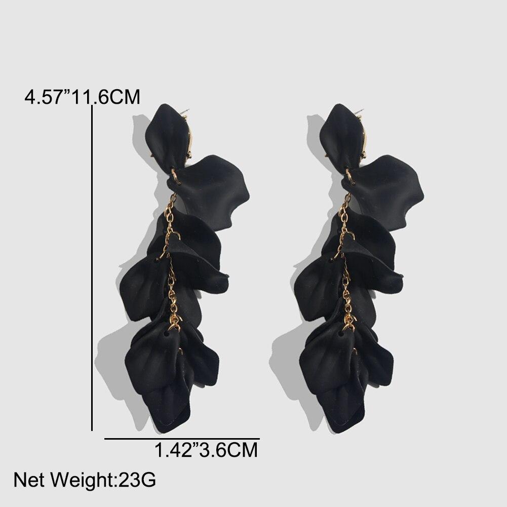 Flatfoosie Fashion Acrylic Resin Drop Earrings For Women Vintage Geometric Long Dangle Statement Earrings Wedding Party Jewelry 25