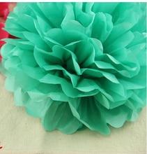 1 adet Tiffany mavi 6 inç 15 cmTissue Kağıt POM POMS Çiçek Öpüşme Topları Ev Dekorasyon Şenlikli Parti Malzemeleri Düğün yanadır