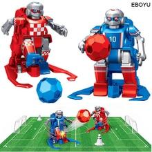 2 шт.* EBOYU JT8811/JT8911 2,4 ГГц RC футбольный робот игрушка беспроводной пульт дистанционного управления два футбольных робота игра игрушки для детей семья