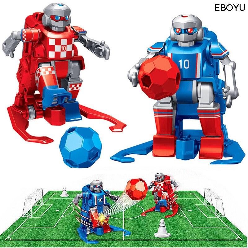 2 uds * EBOYU JT8811/JT8911 2,4 GHz RC fútbol Robot de juguete Control remoto inalámbrico dos Robots de fútbol juego juguetes para la familia de los niños