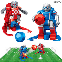 2pcs * EBOYU JT8811/JT8911 2.4GHz RC Football Robot Toy Wireless Remote Control Two Soccer Robots Game Toys for Kids Family