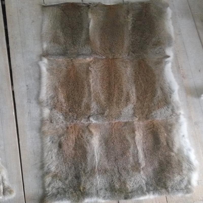 Music Memorabilia Black Rabbit Fur Rugs Dyed Rabbit Fur Blanket Real Rabbit Skin Fur Plate