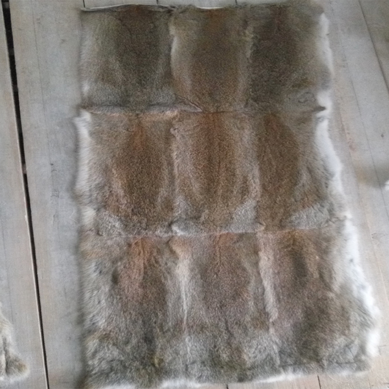 Enthusiastic Real Soft Natural Rabbit Fur Plate Fur Pelt Rabbit Skin Rug Wholesale Grey Brown Black New Christmas Gift Accessory Crafts Music Memorabilia