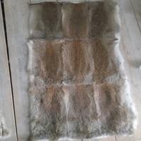 Real Soft Natural Rabbit Fur Plate Fur Pelt Rabbit skin Rug Wholesale Grey Brown Black New Christmas Gift Accessory Crafts