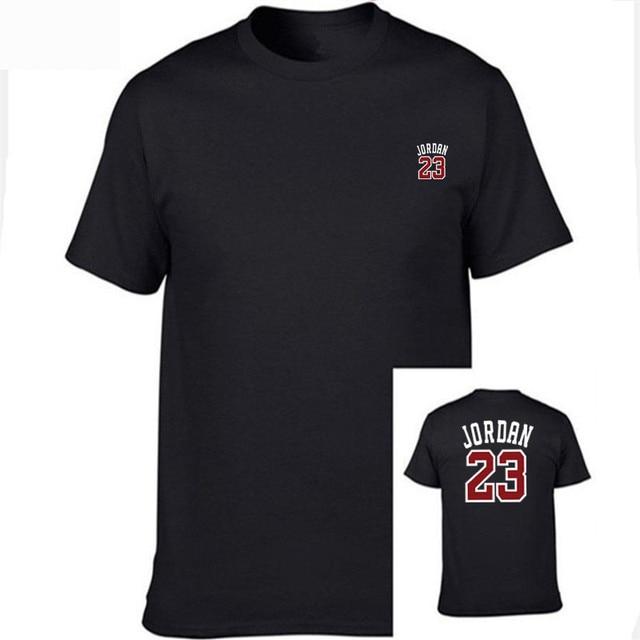 best authentic 1eec5 09382 Jordan 23 t-shirt 2017 Fashion Printed 100% Cotton short sleeve couple t  shirt designs jordan man s T-shirt O-Neck shirt