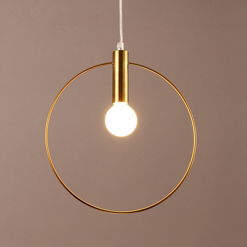 все цены на Simple Post Modernity Iron Restaurant Bar Cafe Originality Personality Northern Europe Annular Hall Chandelier Freeshipping в интернете