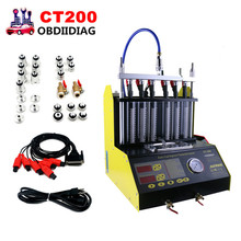 CT200 Petrol Car Motorcycle Injector Ultrasonic Cleaner Injection Tester  machine 220/110V Better than Launch CNC602A