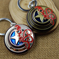 newest style  Marvel movies Captain America keychain Hydra Shield Metal keychain Octopus Key Chain Holder Llavevos