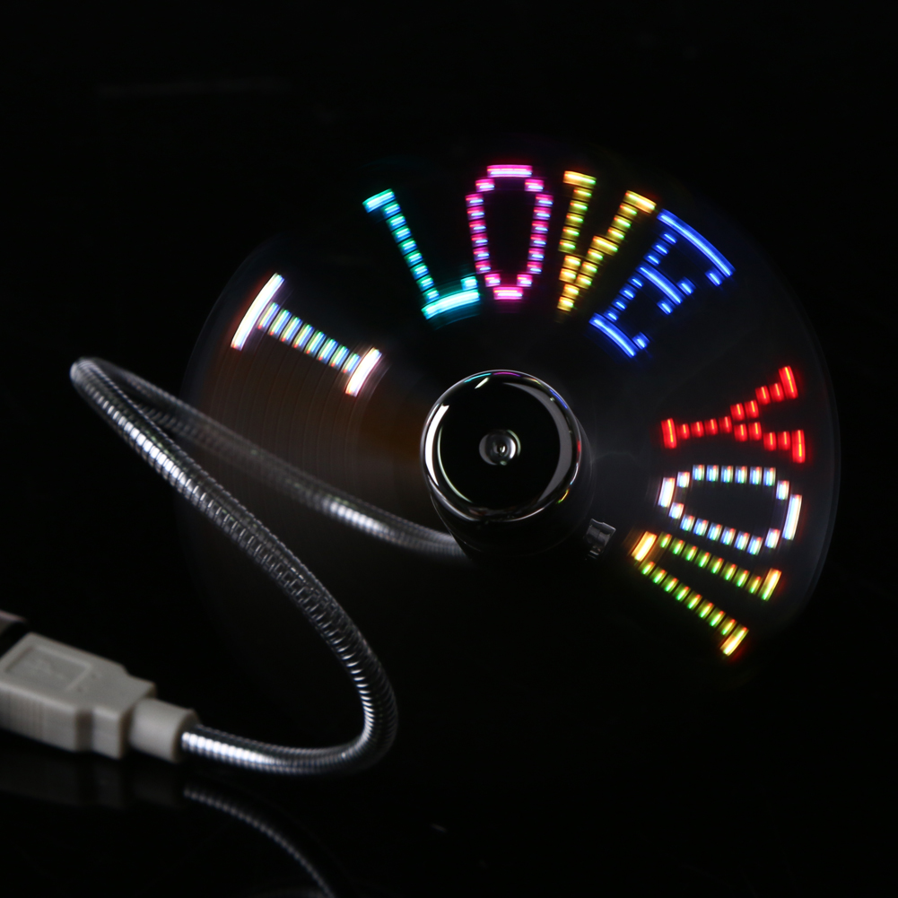 Cooling Fan LED Light DIY USB Gadget Mini USB Fan Programming USB Fan