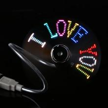 DIY USB Gadget Mini USB Fan Flexible Programmable LED Cooler Cooling Fan Programming USB Fan LED Light