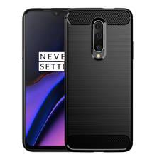 Brushed Carbon Fiber Soft TPU Cover for One Plus 7 Pro Case Slim Soft Silicone for OnePlus 7 Pro 6.67″ Schockproof Phone Cover