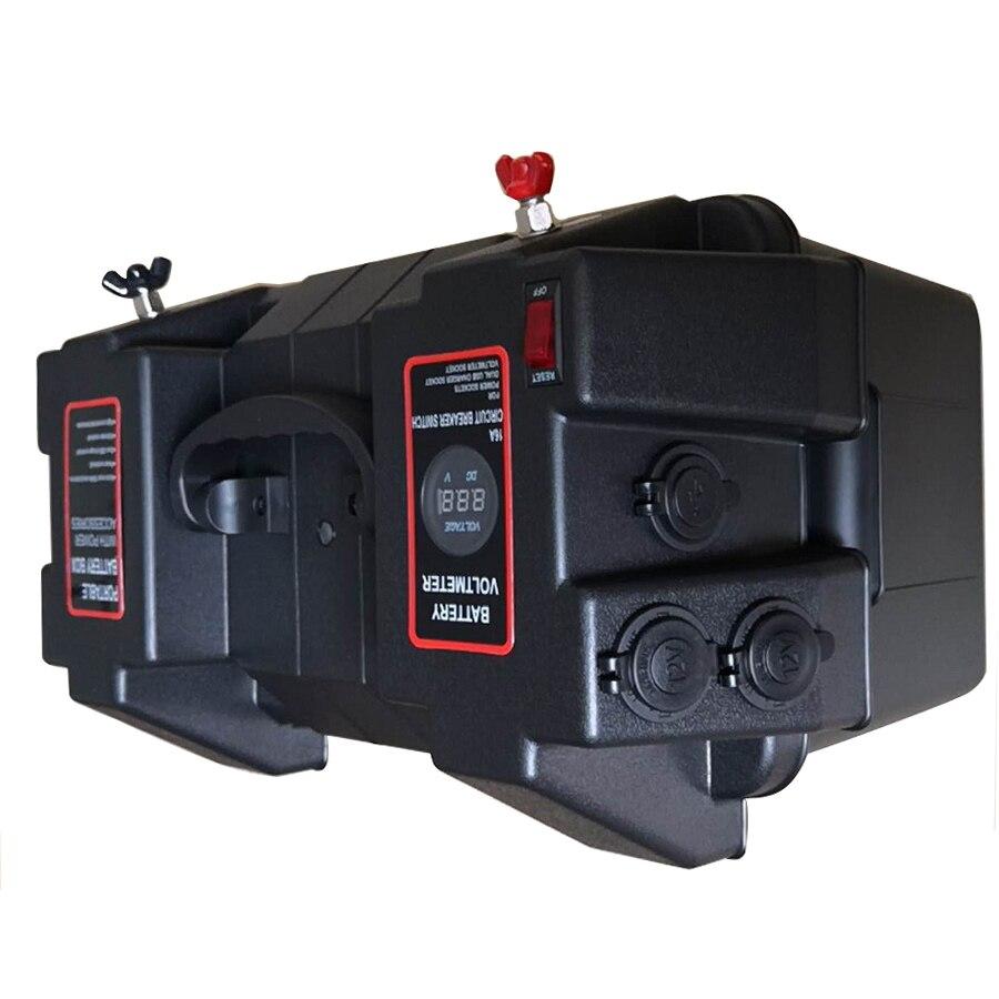 Multifunzionale Contenitore di Batteria con Voltmetro Calibro Caricatore USB per Barca CAMPER Auto Camion Marine - 4