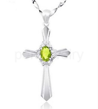 Cross pendant peridot necklace pendant 925 sterling silver natural cross pendant peridot necklace pendant 925 sterling silver natural real peridot for men or women 05ct gem 16081716 in pendants from jewelry accessories mozeypictures Gallery